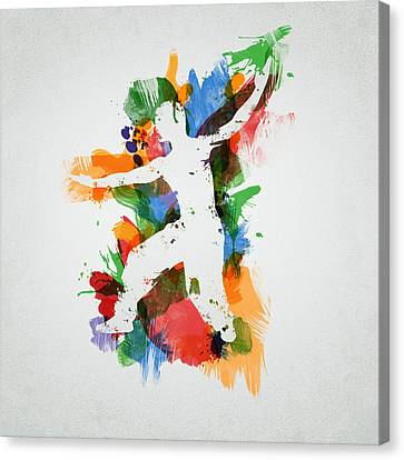 Karate Fighter Canvas Print