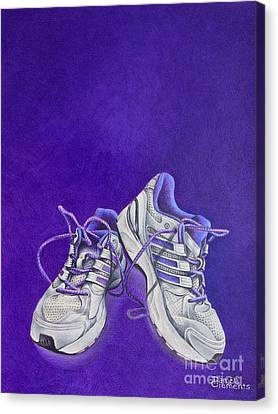 Canvas Print featuring the painting Karen's Shoes by Pamela Clements