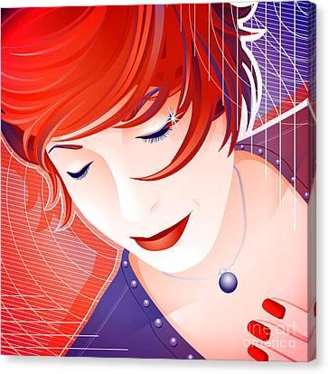 Women Canvas Print - Karin by Sandra Hoefer