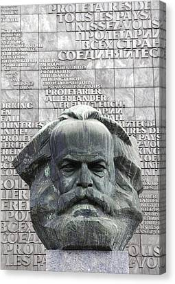 Karl Marx Monument In Chemnitz Canvas Print
