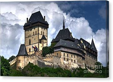 Canvas Print featuring the photograph Karlstejn Castle In Prague 2 by Joe  Ng
