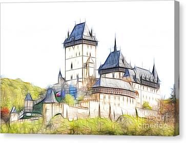Karlstejn - Famous Gothic Castle Canvas Print by Michal Boubin