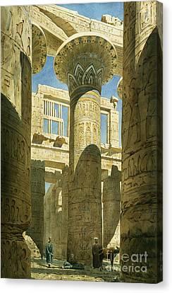 Carved Canvas Print - Karnak by Richard Phene Spiers