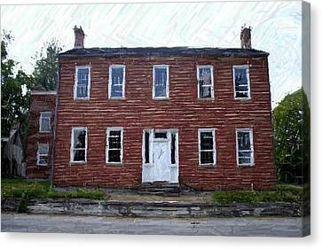 Karrick Parks House - Perryville Ky Canvas Print by Thia Stover