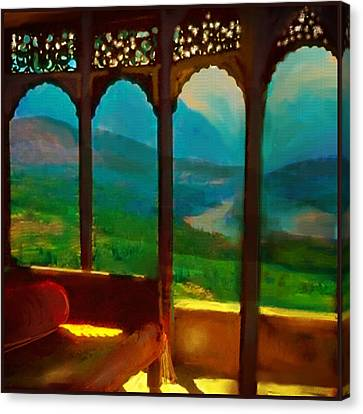 Mountain View Canvas Print - Kashmeer by S Seema  Z