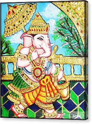 Kasi Yatra Ganesh Canvas Print by Jayashree