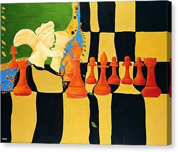 Kasparov-karpov Canvas Print