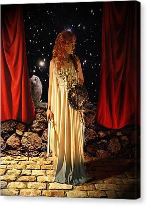 Kat As Athena  Canvas Print