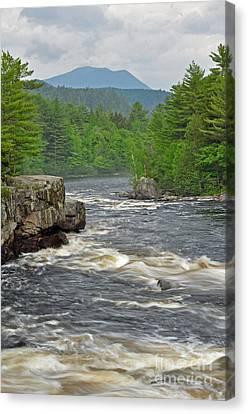 Katahdin And Penobscot River Canvas Print