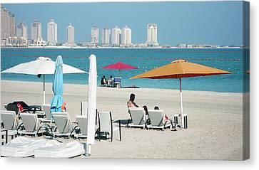 Katara Beach Canvas Print by Bob Edwards