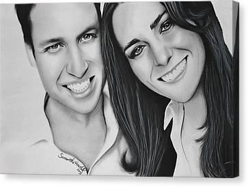 Kate And William Canvas Print by Samantha Howell