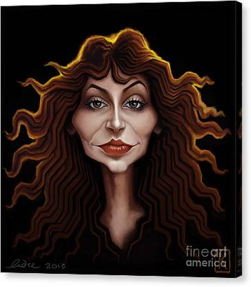 Kate Bush Canvas Print by Andre Koekemoer
