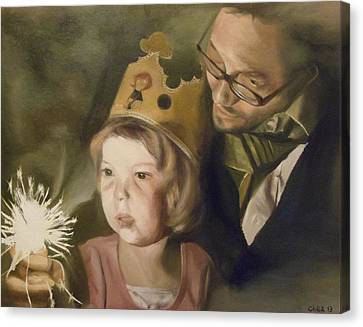 Kate's Sparkler Canvas Print by Cherise Foster