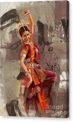 Kathak 21 Canvas Print by Mahnoor Shah