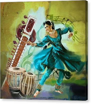 Kathak Dancer 4 Canvas Print by Catf