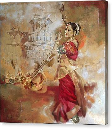 Kathak Dancer 8 Canvas Print by Corporate Art Task Force