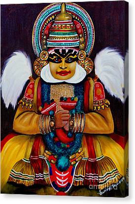 Canvas Print featuring the painting kathakali.. Lord Shiva by Saranya Haridasan
