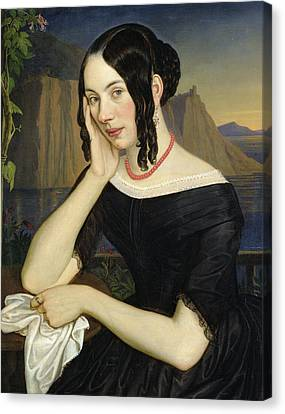 Katharina Kern Of Sterzing Canvas Print by Rudolph Friedrich Wasmann