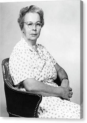 Katharine Blodgett Canvas Print by Emilio Segre Visual Archives/american Institute Of Physics