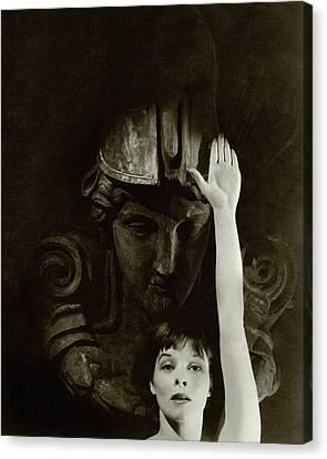 Katharine Hepburn Raising Her Hand Canvas Print by Cecil Beaton