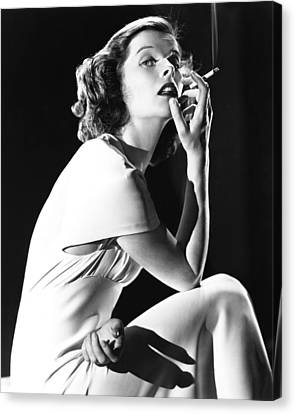 Katharine Hepburn Canvas Print by Silver Screen