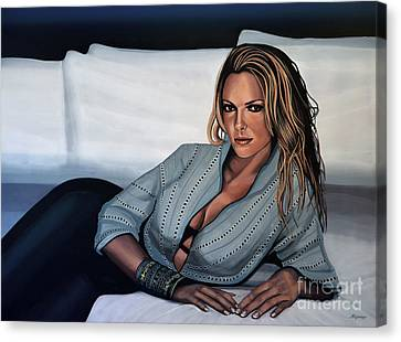 Katherine Heigl Canvas Print by Paul Meijering