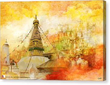 Kathmandu Valley Canvas Print by Catf