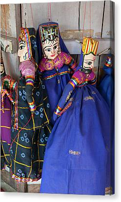 Kathputli, Traditional Rajasthani Canvas Print by Inger Hogstrom