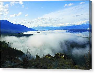 Katka Mountain Lookout Canvas Print by Annie Pflueger