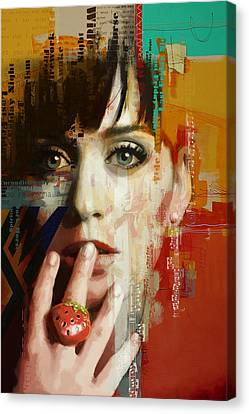 Katy Perry Canvas Print by Corporate Art Task Force