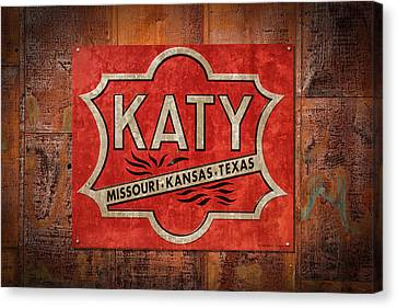 Katy Railroad Sign Dsc02853 Canvas Print