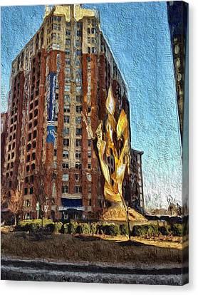 Katyn Memorial In Baltimore Canvas Print