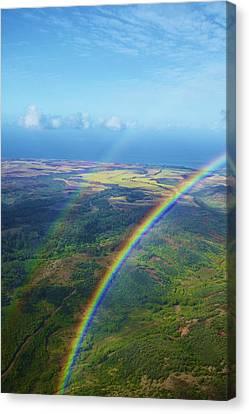 Kauai Double Rainbow Canvas Print by Kicka Witte