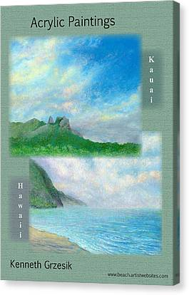 Kauai Painting Poster 2 Canvas Print by Kenneth Grzesik