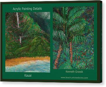 Kauai Painting Poster 3 Canvas Print by Kenneth Grzesik
