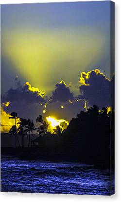 Kauai Sunset Canvas Print by Debbie Karnes