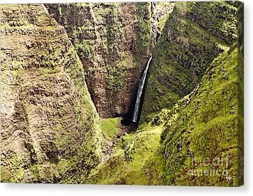 Kauai Waterfall Canvas Print by Scott Pellegrin