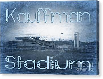 Kauffman Stadium Canvas Print by Andee Design