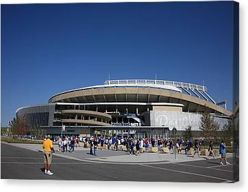 Kauffman Stadium - Kansas City Royals Canvas Print by Frank Romeo