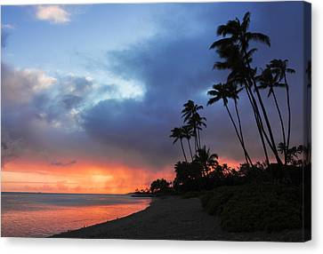 Kawaikui Sunset 2 Canvas Print by Leigh Anne Meeks