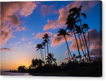 Canvas Print featuring the photograph Kawakui Sunset 3 by Leigh Anne Meeks