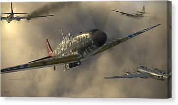 Kawasaki Ki-61-i Tei Canvas Print by Robert Perry