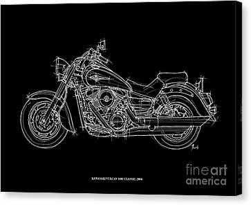 Kawasaki Vulcan 1600 Classic 2006 Canvas Print by Pablo Franchi