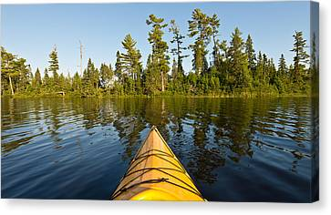 Kayak Adventure Bwca Canvas Print by Steve Gadomski
