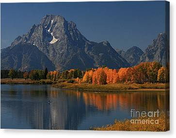 Canvas Print featuring the photograph Kayak At Oxbow Bend by Clare VanderVeen
