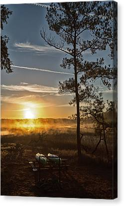 Canvas Print featuring the photograph Kayak Morning by Margaret Palmer