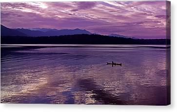 Canvas Print featuring the photograph Kayak On Dabob Bay by Greg Reed