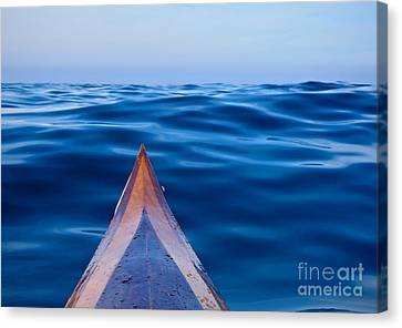 Kayak On Velvet Blue Canvas Print