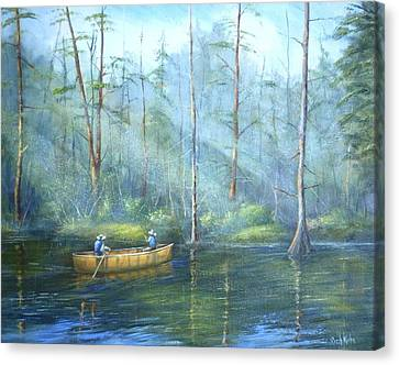 Kayak Rays Canvas Print by Rich Kuhn