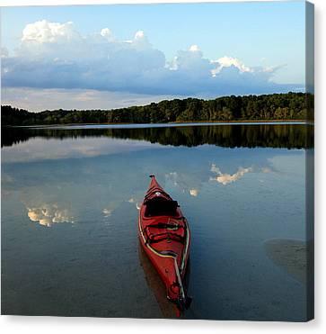 Kayak Reflections Canvas Print by Baratz Tom